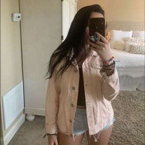 Light pink denim jacket from Forever 21